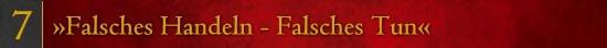 Falsches Handeln - Falsches Tun